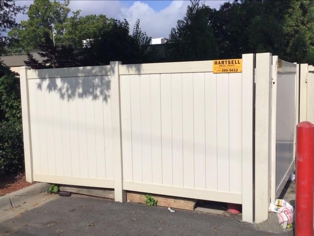 PVC/Vinyl Dumpster Enclosure